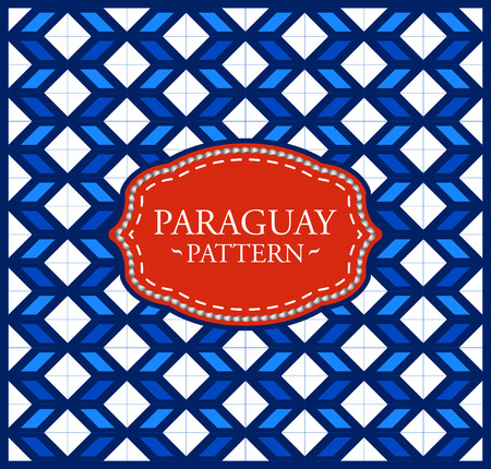 Paraguay pattern - Background texture and emblem with the colors of the flag of Paraguay