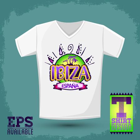 paradise beach: Graphic T- shirt design