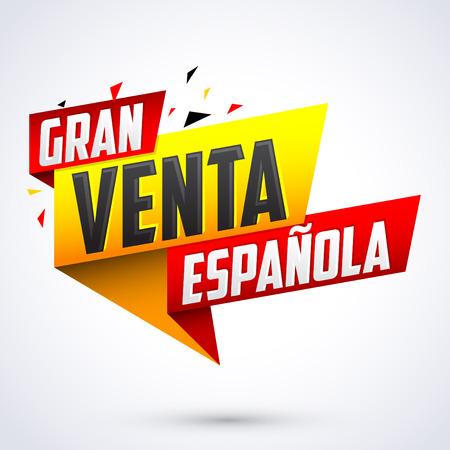 Gran venta Espanola - Spanish big sale spanish text, vector modern colorful banner