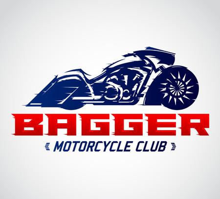 bagger: Bagger Motorcycle Club vector emblem