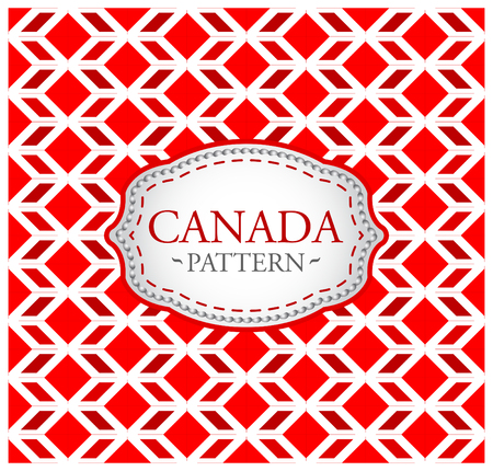 Canada pattern - Background texture and emblem with the colors of the flag of Canada Illustration