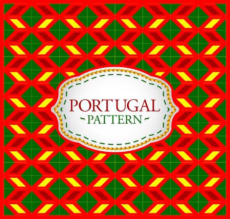 Portugal patroon - Achtergrond textuur en het embleem met de kleuren van de vlag van Portugal