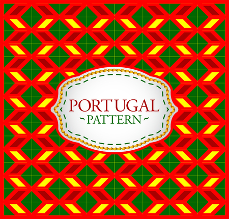 streaked: Portugal pattern - Background texture and emblem with the colors of the flag of Portugal Illustration