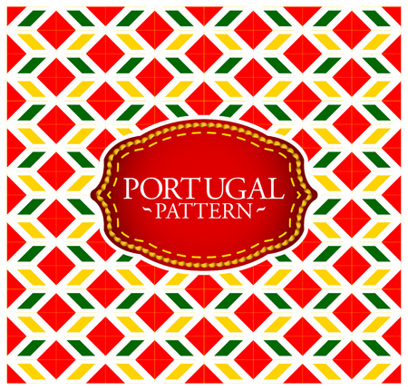 Portugal pattern - Background texture and emblem with the colors of the flag of Portugal 矢量图像