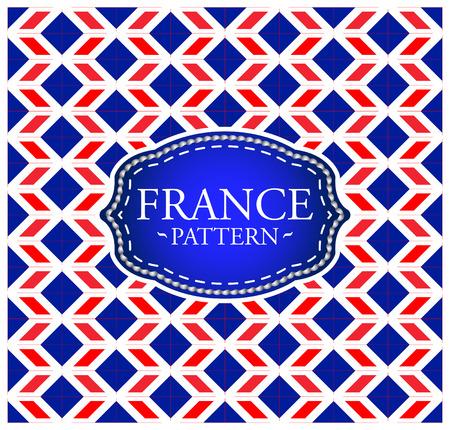 France pattern - Background texture and emblem with the colors of the flag of France