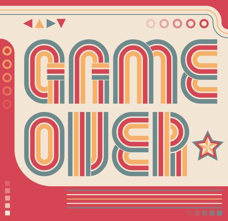 Game Over screen eighties video games style Stock Illustratie