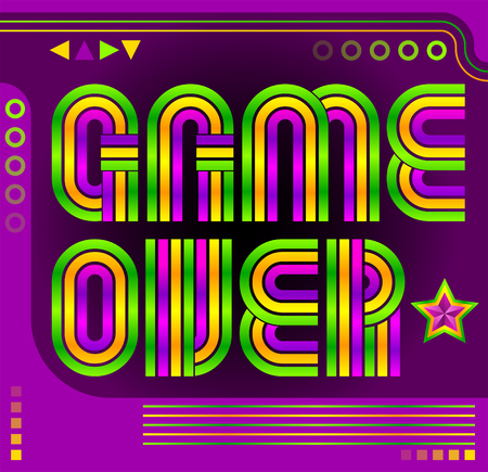resignation: Game Over screen eighties video games style Illustration