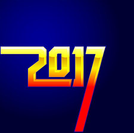 2017 new year calendar cover, typographic vector illustration Illustration