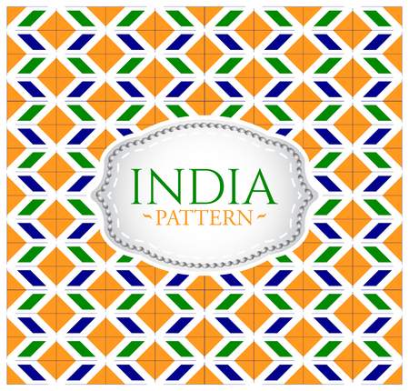 India pattern - Background texture and emblem with the colors of the flag of India