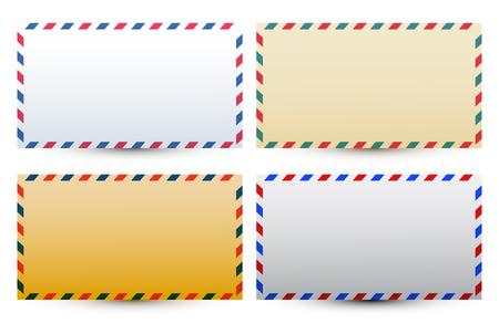 Mail postal envelope vector illustration