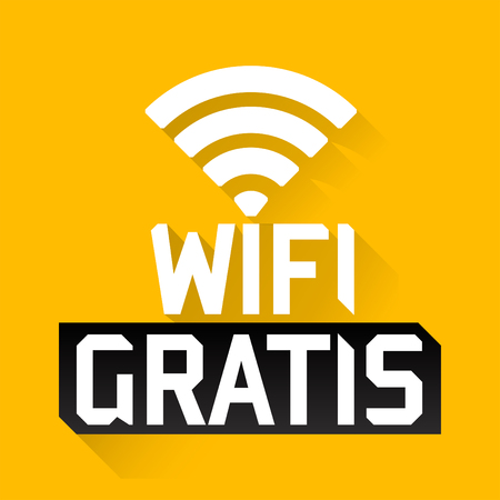 Wifi Gratis, Spanish translation: Free Wifi, vector zone sign icon
