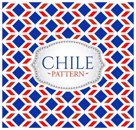 bandera chilena: Chile patrón - fondo transparente textura y emblema con los colores de la bandera de Chile