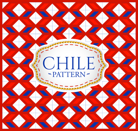 stripped: Chile pattern - Seamless Background texture and emblem with the colors of the flag of Chile