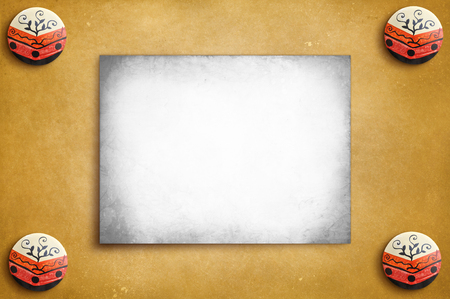 Vintage poster on the rustic texture background - ready for your text