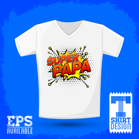 Super papa, Super Dad spanish text, Vector Graphic t shirt design, shirt print