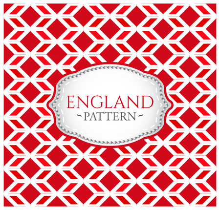 english culture: England pattern - Seamless Background texture and emblem with the colors of the flag of England