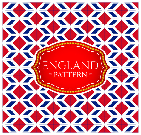 England pattern - Seamless Background texture and emblem with the colors of the flag of England