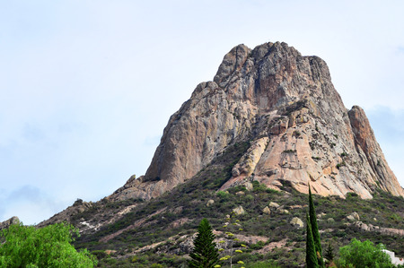 Pena de Bernal, Bernal Boulder is the largest monolith in Mexico located in Bernal Queretaro