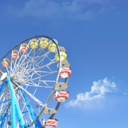 carnival ride: Defocused ferris wheel, Blur abstract background ready for your design