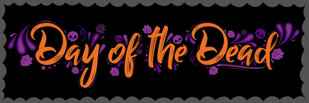 Day of the Dead lettering illustration