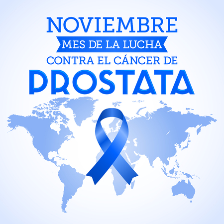 November month of fight against Prostate cancer in spanish text
