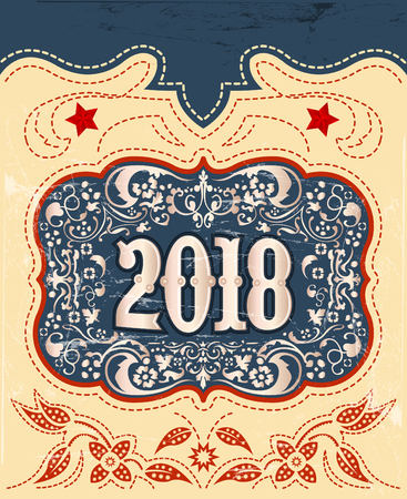 2018西洋スタイルの休日のデザイン