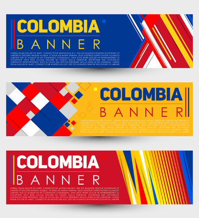 Colombia modern banner template vector set design
