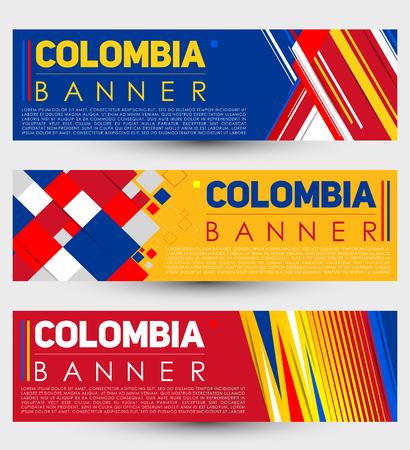 Colombia modern banner template vector set design