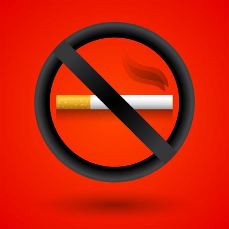 No smoking elegant realistic sign vector illustration