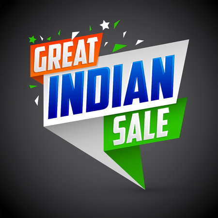 Great Indian sale, vector modern colorful promotional banner
