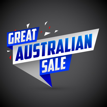 Great Australian sale, vector modern colorful promotional banner Illustration