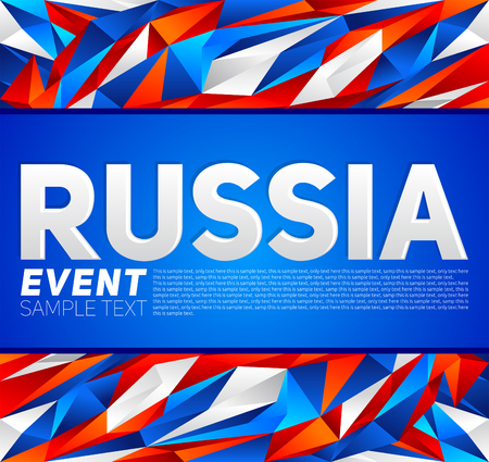 Russia event banner template vector modern design, Russian flag colors. Çizim