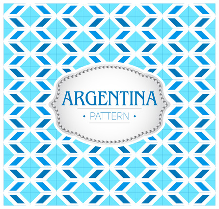 Argentina pattern, Background texture and emblem with the colors of the flag of Argentine.