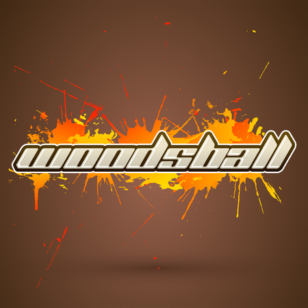 Woodsball emblem, is a format of paintball gaming, icon design, colorful banner