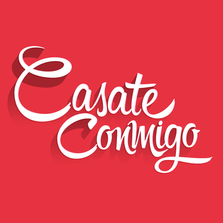 Casate Conmigo, Marry Me spanish text, proposal lettering design