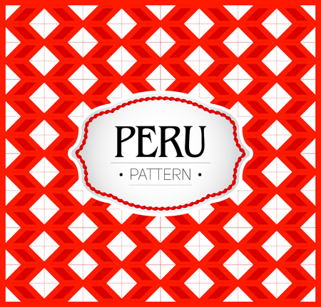 Peru pattern, Background texture and emblem with the colors of the flag of Peru