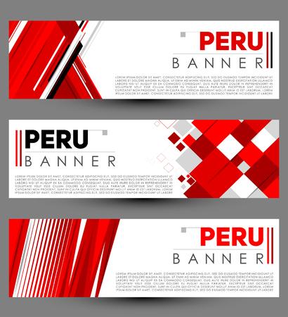 Peru modern banner template vector set design Vettoriali