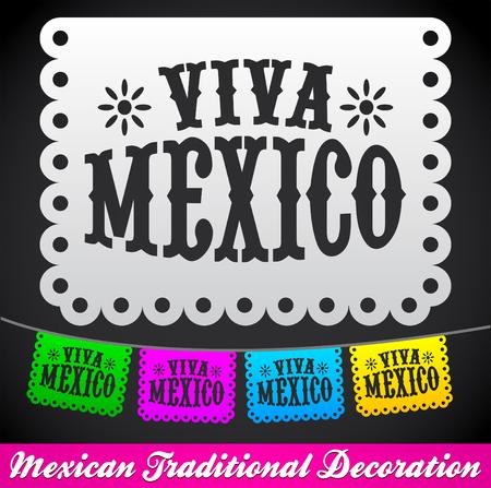 Viva Mexico, mexican holiday vector decoration