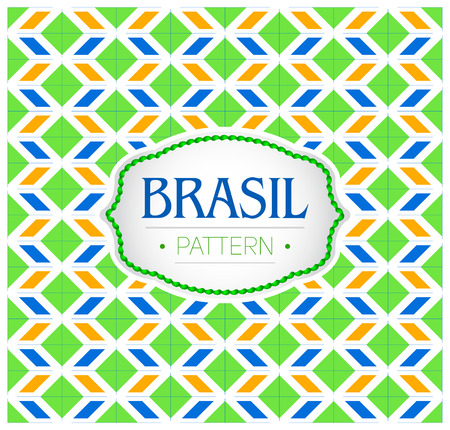 Brasil pattern, Background texture and emblem with the colors of the flag of Brazil Imagens - 105949790