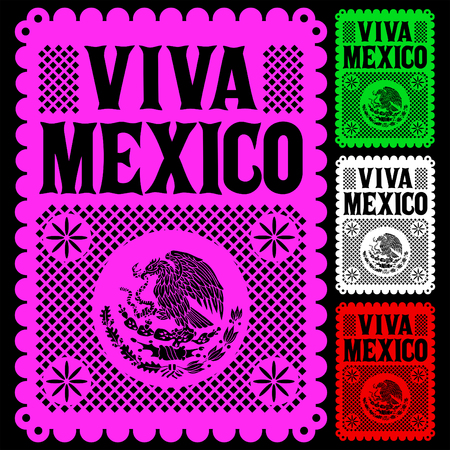 Viva Mexico mexican holiday vector poster, street decoration illustration. 版權商用圖片 - 105949807