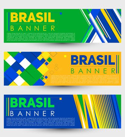 Brazil modern banner template vector set design Imagens - 105949823