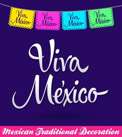 Viva Mexico mexican holiday vector decoration