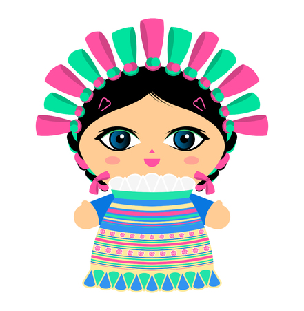 Mexican Doll vector illustration