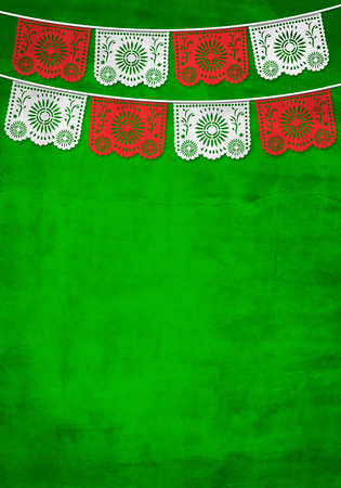 Traditional Mexican paper decoration background with old paper texture