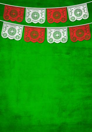 Fondo de decoración de papel tradicional mexicana con textura de papel viejo