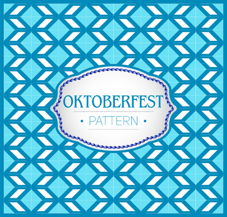 Oktoberfest pattern, Background texture and emblem with traditional bavarian colors