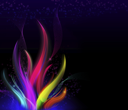 Stylish wavy flame, Colorful modern abstract background.