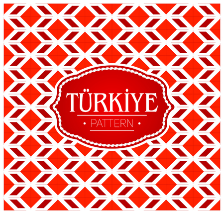 Turkiye pattern, Background texture and emblem with the colors of the flag of Turkey