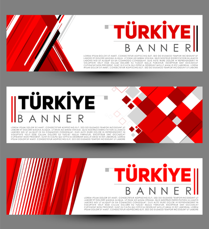 Turkiye Turkey modern banner template vector set design