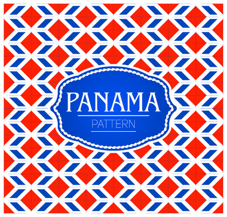 Panama pattern, Background texture and emblem with the colors of the flag of Panama